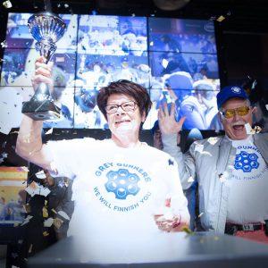 Lenovon suomalainen eläkeläisten e-urheilujoukkue Grey Gunners voitti