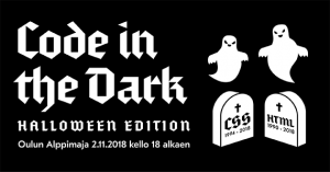 Code in the Dark tulee taas — tällä kertaa kisataan halloween-tunnelmissa
